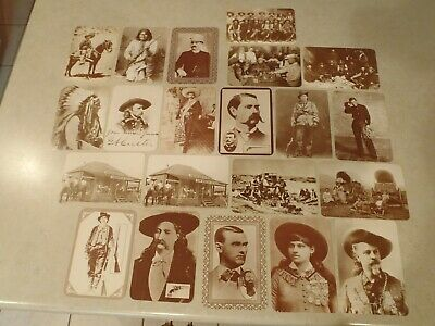 Old West Collectors Series Postcard Lot of 21 Geronimo Billy the Kid Jesse James