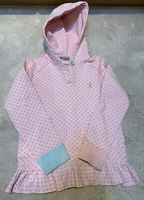 Joules Girls Cute Pink Hoodie Sweatshirt With Hood Age 6 Years