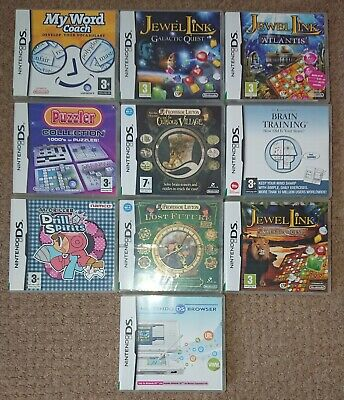 Job Lot 9 Nintendo Ds Games All Boxed With Instructions Plus Ds Browser
