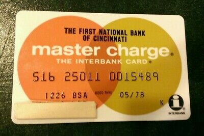 Master Charge Card exp 1978 First National Bank of Cincinnati