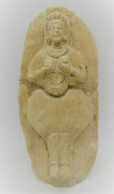 Scarce Ancient Near Eastern Terracotta Statuette Depicting Worshipper 500Bce