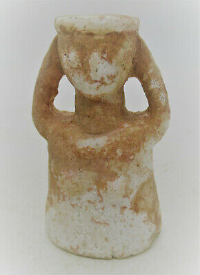 Circa 1000Bce Ancient Near Eastern Rock Crystal Carved Worshipper Statue