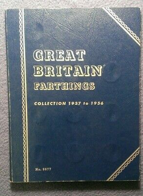 Great Britain Farthings Collection 1937 to 1956 Whitman.  23 coins, missing 1956