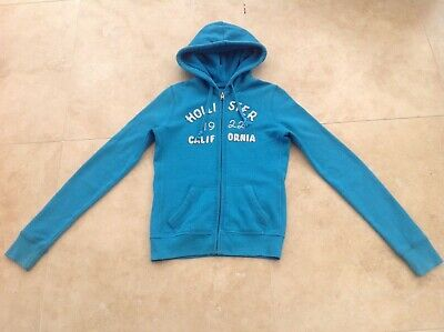 Ladies' Girls' HOLLISTER Turquoise zipped hoodie jacket Size S