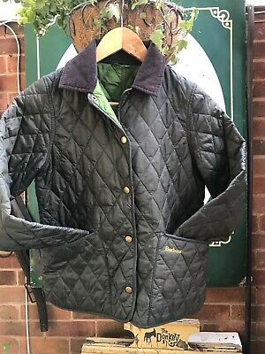 Barbour Shaped Liddesdale girls Childrens quilted jacket 8-9