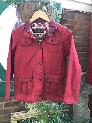 Girls Barbour printed Utility Country Cottage Print wax jacket Large 10/11 year