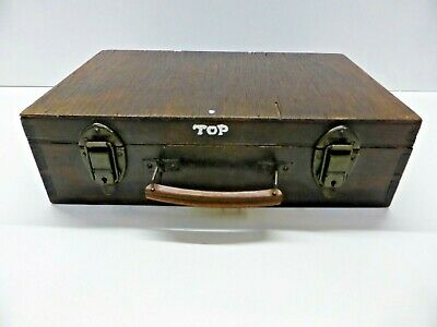 Vintage/Antique Wooden Case Small Wooden Box With Leather Handle
