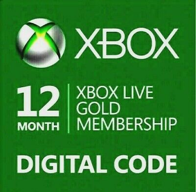 Microsoft Xbox Live 12 Month Gold Membership Code🔥Quick Email Delivery🔥