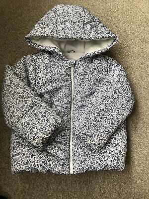 Mothercare Girls Blue Floral Coat 2-3 Years
