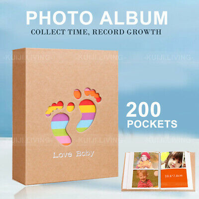 Mini Photo Album 200 Pockets for 3X4 inch Photo  for New Baby Birthday Gift