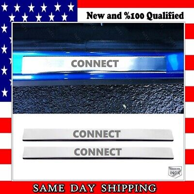 Chrome Door Sill Protector Cover 2 pcs for Ford TRANSIT CONNECT 2010-2013