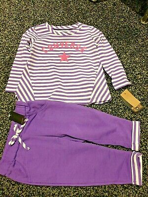 Girls  2  Piece Set Converse Tracksuit Top And Bottoms New   Age 12 Month   Bnwt