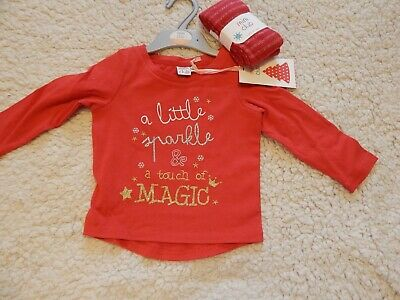 BNWT Cute Girls 'SPARKLE' Top & Tights In Size 4-5 Years