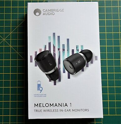 Cambridge Audio Melomania1 Wireless Earbuds, Black, Bluetooth 5, 45 Hour Battery