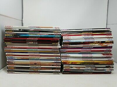 Huge 60 Issues of Playboy Magazine 1990's Mens Magazine Lot Collection Adult