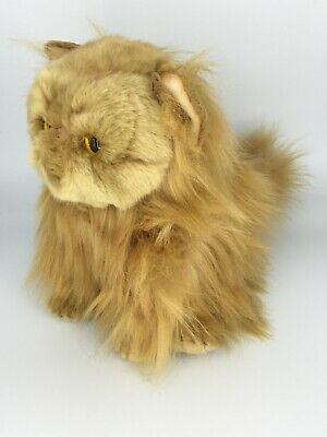 DEMDACO Small Persian Cat Friend Muted Orange Kids Plush Stuffed Animal Toy