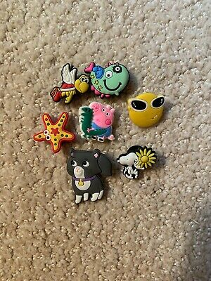 crocs Jibbits charms 7 Boys Girls Cat Mario Peppa Pig