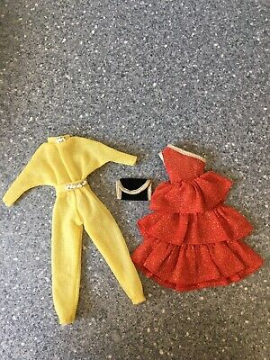 Two Beautiful Vintage Outfits For Sindy/Barbie Dolls -clothes- No Doll