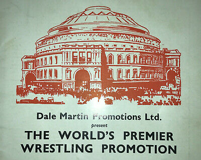 A Collection of 3 Dale Martin British Wrestling Royal Albert Hall Programmes
