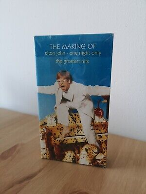 🎼 VHS Video The Making of Elton John  One Night Only  Card Packaging NEW