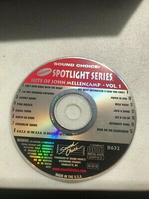 SOUND CHOICE KARAOKE SPOTLIGHT SERIES CD+G - 8632 John Cougar Mellencamp Vol 1