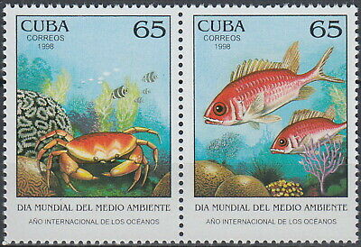X Int Year of the Oceans World Environment Day Marine Life 1998 MNH-6 Euro