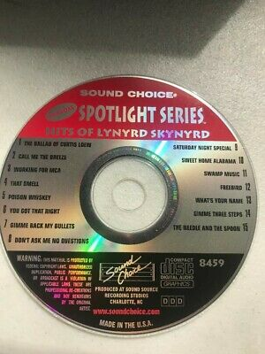 SOUND CHOICE KARAOKE SPOTLIGHT SERIES CD+G - 8459 Hits Lynyrd Skynyrd CDG