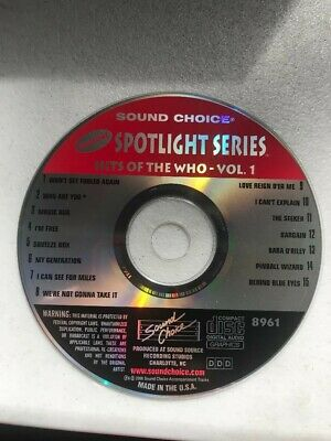 SOUND CHOICE KARAOKE SPOTLIGHT SERIES CD+G - 8961 Hits of the WHO Vol 1