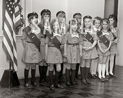 1970 Girl Scouts Troop 615 Lancaster SC - Print Photo Picture