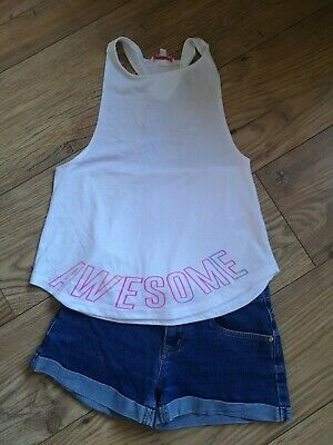Girls Shorts, Vest Top & t-shirt- Primark/Next- Age 7-8