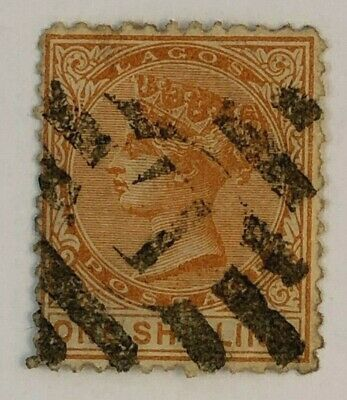 Lagos Nigeria 1874 1/- SG8a Used Cat £70