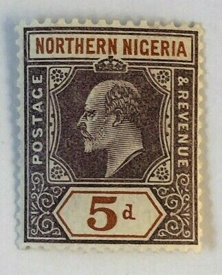Northern Nigeria 1907 5d SG 24a Mint Cat £38