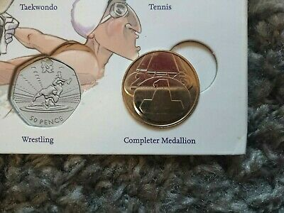 Completer Medallion for 2012 Olympic 50p Sports Coin Hunt Album