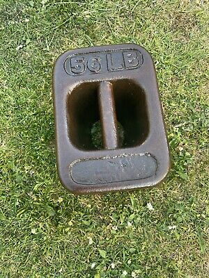Vintage Cast Iron 56lb Weight Market Stall Door Stop Boat Has CC ON IT