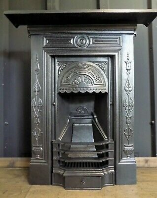 cast iron fireplace, edwardian, victorian, antique no reserve