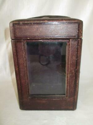 Large Antique Victorian Morocco Leather Carriage Clock Case
