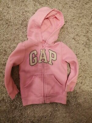 Girls Gap Age 2 Pink Zip Through Hoodie