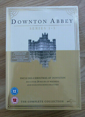 DOWNTON ABBEY - SERIES 1 to 3 COMPLETE COLLECTION DVD BOXSET - NEW & SEALED