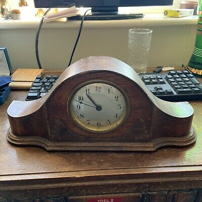 Vintage Wooden Cased Manual winding Mantle Clock