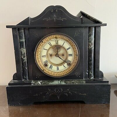 Antique Ansonia Mantle Clock Marble or Slate? Patented 1881 for Restoration