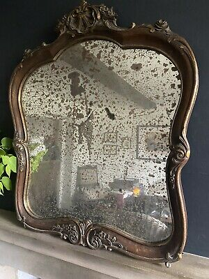 Antique French Wooden Carved Mirror