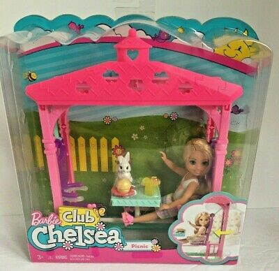 Barbie Club Chelsea Picnic Doll and Playset NEW