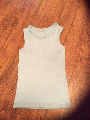 Girls light blue sleeveless t shirt age 8-9 years George label