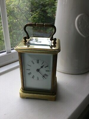 Antique Brass Carriage Clock 8 Day French movement