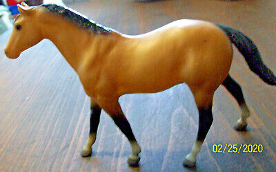 Vintage Breyer Horse Little Bits #9015 Dun Quarter Horse Stallion 1983 EUC!