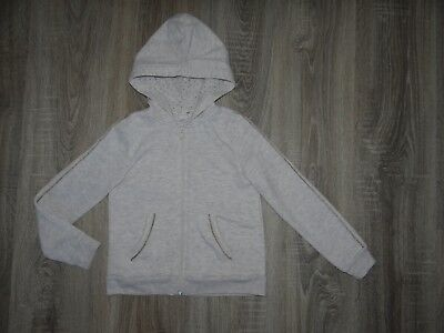 Girls H&M hoodie/ hooded jacket Gold stripes/ hooded top coat size 6-8 years