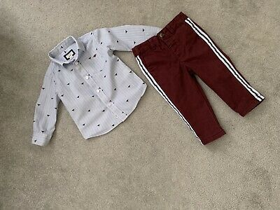 Baby Boys 6-9 Months River Island Smart Outfit Shirt & Chino Style Trousers