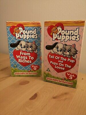 Pound Puppies Vol 2 & Vol 3 VHS Video Retro From Wags to Riches & Tail of Pup...