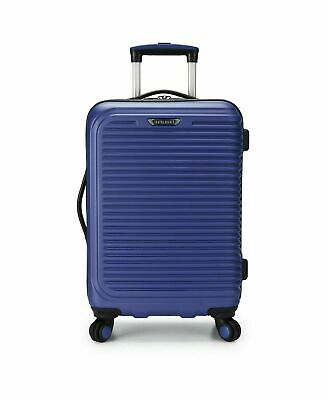 "$260 Travel Select Savannah 20"" Hard Spinner Carry On Luggage Suitcase Navy"