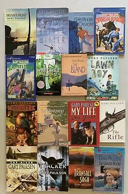 Lot/16 Books,Kids Chapter Books, By  Gary Paulsen,Paperback Books
